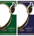 Set of green and blue labels for chocolate or vector image