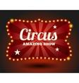 Circus lightbulb border vector image