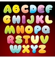 Colorful Candy Alphabet vector image