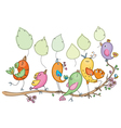 easter birds vector image
