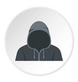 figure in a hoodie icon circle vector image
