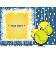 Frame Happy new yearand tennis balls vector image
