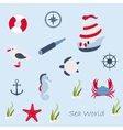 Funny sailing ship vector image