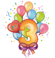 Happy birthday three vector image