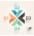 Modern arrow origami options banner vector image