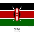 National flag of Kenya with correct proportions vector image
