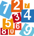 numbers icons vector image