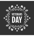 Veteran day sign vector image