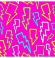 Colorful comic thunder bolts seamless vector
