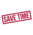 Save Time rubber stamp vector image