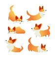 dog - modern set of flat vector image
