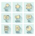 Business infographics icons Social media concept vector image vector image