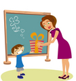 student giving gift vector image vector image