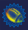 THE GLOWING FOOTBALL BALL vector image vector image