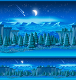picturesque valley at night vector image