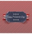 Presidents Day Holiday big realistic greeting Card vector image