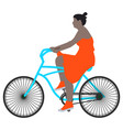 a spring walk woman cyclist vector image