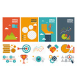 annual report cover A4 sheet template and flat vector image
