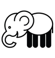 Cute animal elephant - vector image