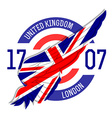 London t-shirt design Tee templates with wing and vector image