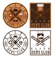 mens club vintage labels with cigars and whiskey vector image