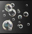 realistic soap bubbles rainbow reflection vector image