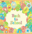 back to school balloons background vector image