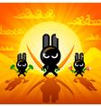 Ninja Rabbits vector image