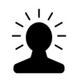 new bright idea in human head icon vector image