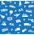 seamless background white transport icons vector image vector image