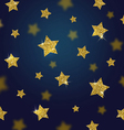 Glitter gold stars background vector image