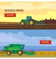 Agricultural Vehicles Flat Banners vector image