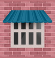 blue awning on window vector image