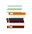 book pile icon vector image