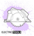 circular saw on a bright background vector image