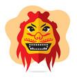 dragon mask flat style colorful cartoon vector image