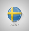 European flags set - Sweden vector image
