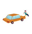 flat cartoon pedestrian accident isolated vector image