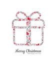 Gift box and christmas icon vector image