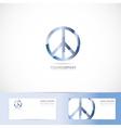 Peace flower power sign symbol logo vector image