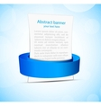 Abstract banner with blue ribbon vector image