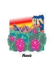 Phoenix Arizona vector image