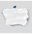 torn piece of white paper with ripped edges and vector image vector image