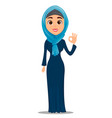 arabic woman showing ok gesture cute vector image