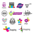 collection of logos shopping discounts vector image