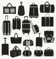 Baggage theme icons vector image