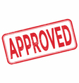 stamp approved with red text over white background vector image