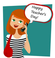 teachers' day background vector image
