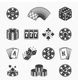 Gambling icons vector image