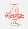xmas candle vector image